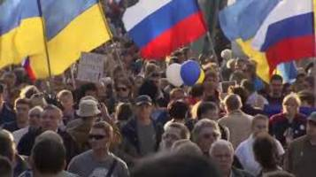 Thousands protest in Moscow over Russia's involvement in Ukraine